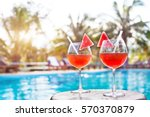 beach holidays background with... | Shutterstock . vector #570370879