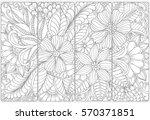 vector set of monochrome... | Shutterstock .eps vector #570371851