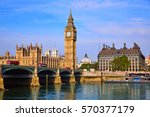 Big Ben Clock Tower And Thames...