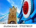 london tower bridge over thames ...   Shutterstock . vector #570378019
