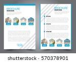 business brochure template.... | Shutterstock .eps vector #570378901