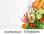 detox food   drink healthy diet ... | Shutterstock . vector #570380044