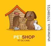 group animals pet shop | Shutterstock .eps vector #570384721