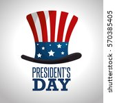 happy presidents day poster | Shutterstock .eps vector #570385405