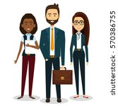 business people avatars icon | Shutterstock .eps vector #570386755