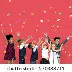 children smiling happiness... | Shutterstock . vector #570388711