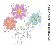 floral cute frame decorative | Shutterstock .eps vector #570389569