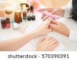 hardware manicure in a beauty...   Shutterstock . vector #570390391