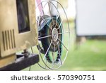 the old  analog rotary film... | Shutterstock . vector #570390751
