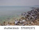 Winter At Black Sea. Constanta...