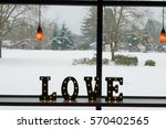 love lights typography sign at...   Shutterstock . vector #570402565
