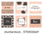 vector modern love cards ... | Shutterstock .eps vector #570403669