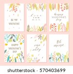 vector modern love cards ...   Shutterstock .eps vector #570403699