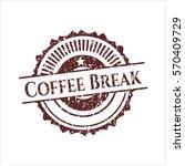 red coffee break distress... | Shutterstock .eps vector #570409729