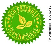 eco friendly sign | Shutterstock . vector #57041458