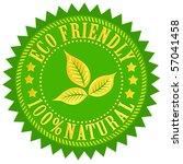 eco friendly sign | Shutterstock . vector #57041458