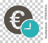 euro credit icon. vector... | Shutterstock .eps vector #570415411