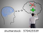 positive thought concept drawn... | Shutterstock . vector #570425539
