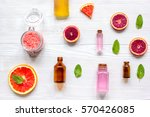 organic cosmetic with citrus on ... | Shutterstock . vector #570426085