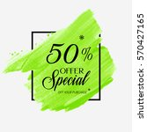 sale special offer 50  off sign ... | Shutterstock .eps vector #570427165