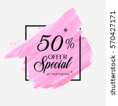 sale special offer 50  off sign ... | Shutterstock .eps vector #570427171