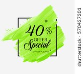sale special offer 40  off sign ... | Shutterstock .eps vector #570427201