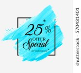 sale special offer 25  off sign ... | Shutterstock .eps vector #570431401