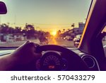 image of people driving car on... | Shutterstock . vector #570433279