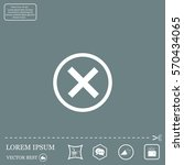 delete icon. cross sign in... | Shutterstock .eps vector #570434065