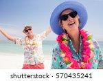 happy senior couple having fun... | Shutterstock . vector #570435241