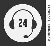 24 call center icon. vector...   Shutterstock .eps vector #570436765