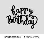 happy birthday. greeting card.... | Shutterstock .eps vector #570436999