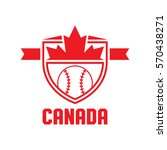 a canadian athletic crest in... | Shutterstock .eps vector #570438271