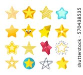 shiny star icons in different... | Shutterstock .eps vector #570438535