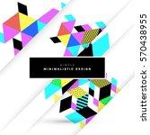 memphis geometric background...   Shutterstock .eps vector #570438955