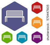 bench icons set rhombus in... | Shutterstock .eps vector #570447835