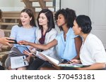 female business colleagues... | Shutterstock . vector #570453181