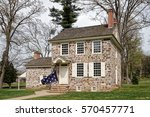 this house at the valley forge... | Shutterstock . vector #570457771