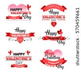 valentine day gift card holiday ... | Shutterstock .eps vector #570459661