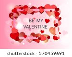 valentine day gift card holiday ... | Shutterstock .eps vector #570459691