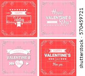 valentine day gift card holiday ... | Shutterstock .eps vector #570459721