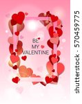 valentine day gift card holiday ... | Shutterstock .eps vector #570459775