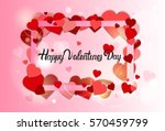 valentine day gift card holiday ... | Shutterstock .eps vector #570459799