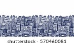horizontal banners of big city... | Shutterstock .eps vector #570460081