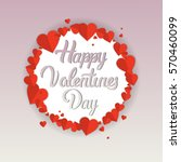valentine day gift card holiday ... | Shutterstock .eps vector #570460099