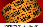 win the jackpot contest raffle... | Shutterstock . vector #570462004