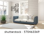white room with sofa and winter ... | Shutterstock . vector #570463369