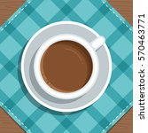 cup of coffee on the table.... | Shutterstock .eps vector #570463771