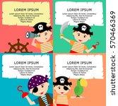 kid in pirate costume poster.... | Shutterstock .eps vector #570466369