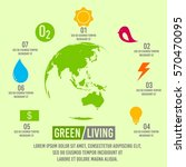 green living concept infographic | Shutterstock .eps vector #570470095